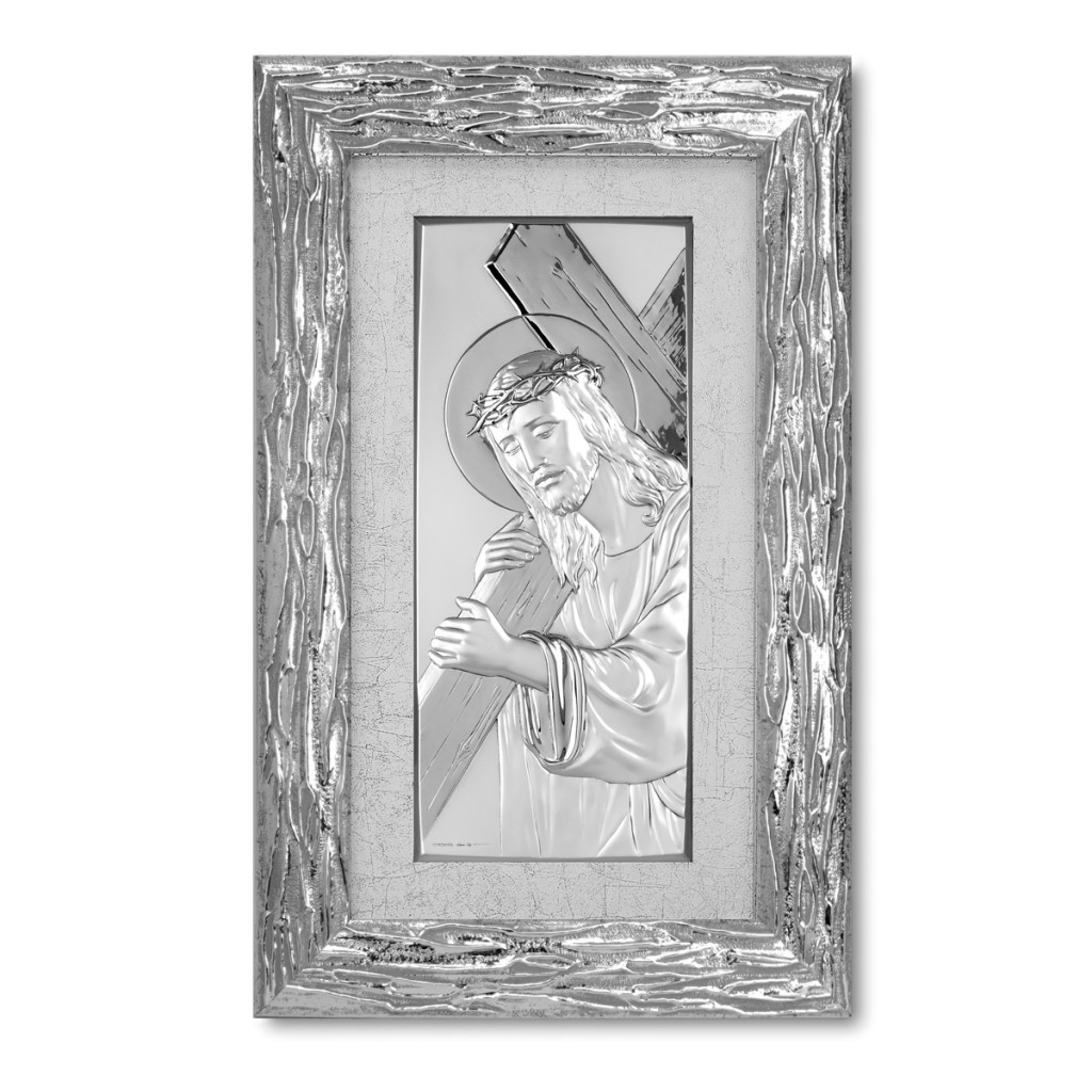 Jesus Christ with silver lamination in silver frame QAF210/9...